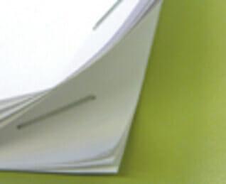 Stapled paper