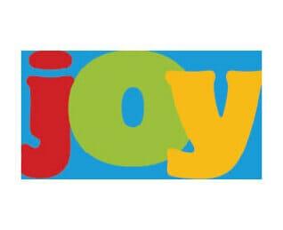 Christmas card joy text