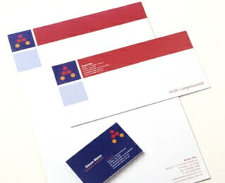 Branded business stationery options