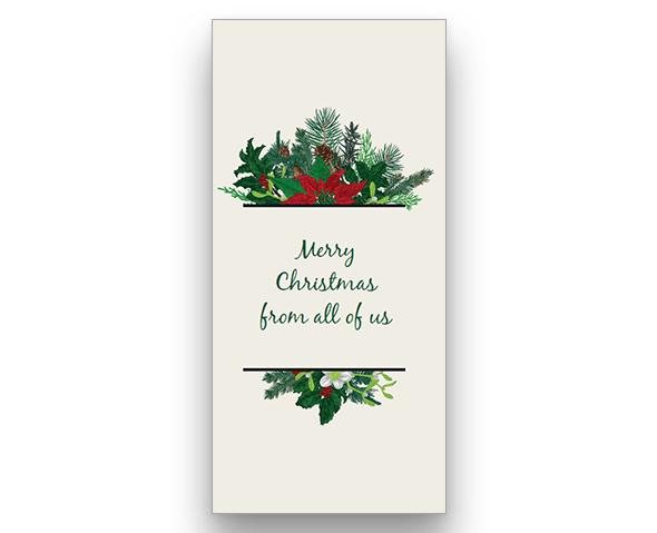 Garland Christmas Card