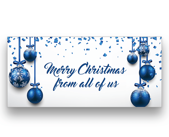 Confetti Baubles Christmas Card