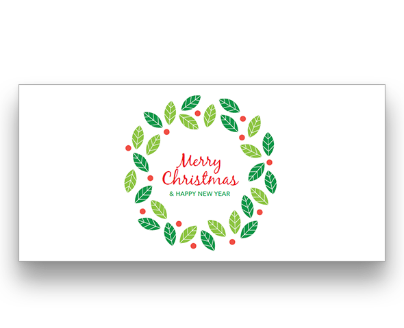 Christmas Wreath Christmas Card