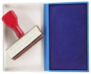 custom rubber stamps printing