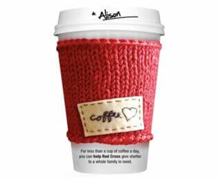 Red Cross winning artwork - Coffee cup