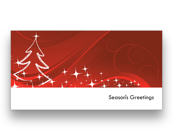 Red Trees Christmas Card