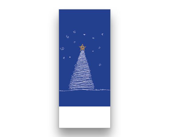Blue Words Christmas Card