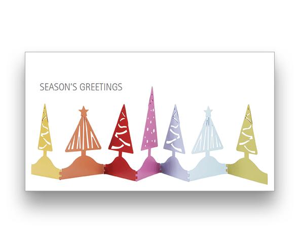 Cutout Trees Christmas Card