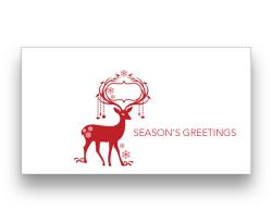 Red Reindeer (horizontal)