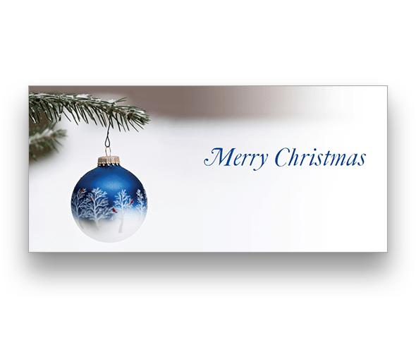 Winter Bauble (horizontal) Christmas Card