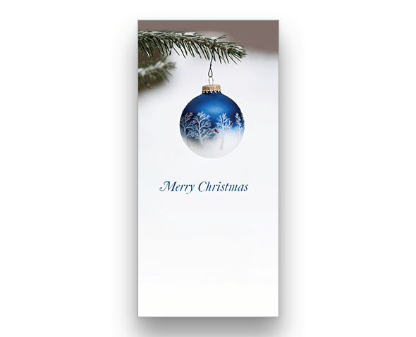 Winter Bauble (vertical) Christmas Card