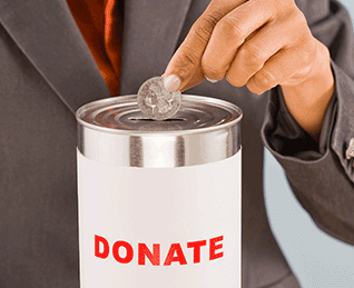 Business donate to charity