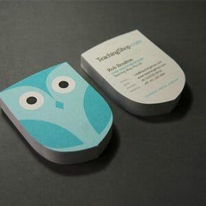 Creative business cards - Teaching Shop