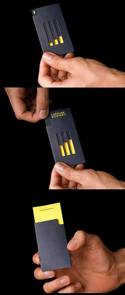 Creative business cards - Tunnel Vision