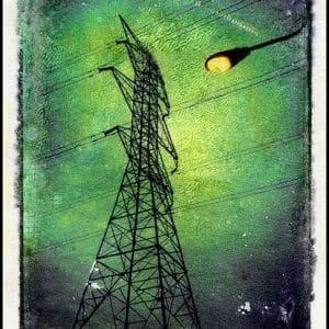 Telegraph pole canvas