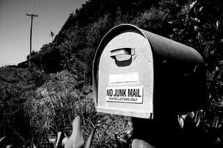 Direct mail marketing mail box