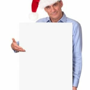 Large format poster for Christmas