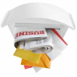 Direct mail in mailbox