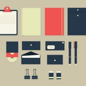 Office stationery examples
