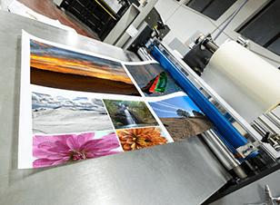Large format printing press