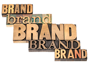 """The word """"Brand"""" written in different fonts"""