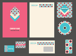 Patterned stationery examples