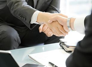 Franchise business handshake