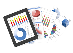 Annual reports with graphs