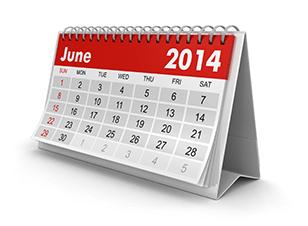 Desk calendar upright