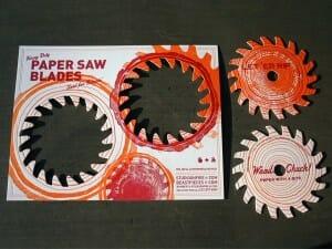 Paper saw blades