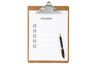 Proof reading checklist