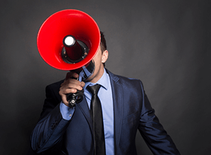 Word of mouth with megaphone
