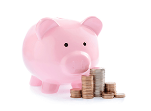 Growing your business - pink piggy bank