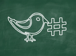 Hashtags, Twitter chalk drawing