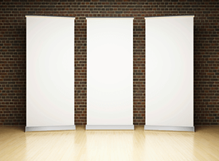 Large format blank pull-up banners