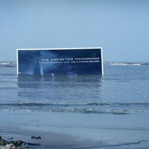 Day After movie poster in ocean