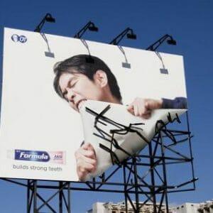 Formula billboard advertising