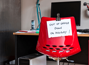 Office messages over the holiday season