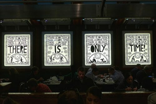 lightbox signs in New York