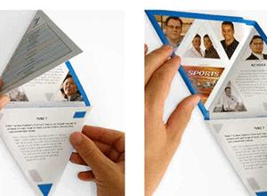 triangular brochure
