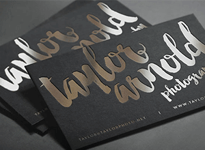 Foiled Business card: Effective business card design