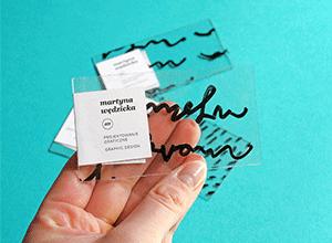 Unique business card ideas: Plastic Business Card
