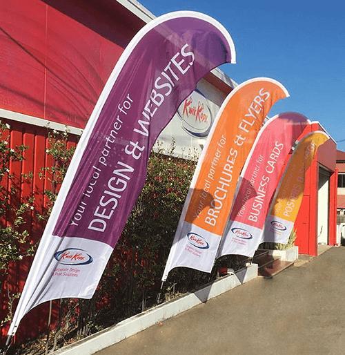 Kwik Kopy Townsville wind flags
