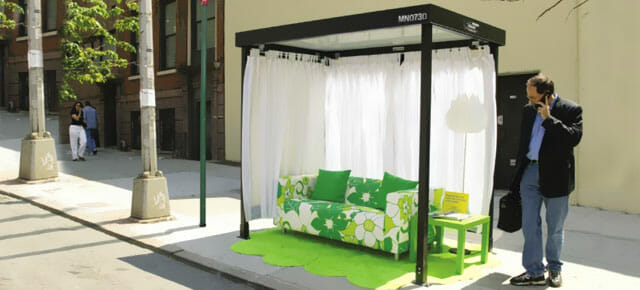 Ikea marketing campaign bus stop