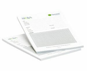 Notepad printing example