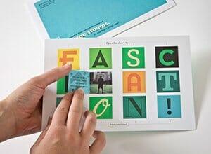 Marketing pieces: printed advent calendar
