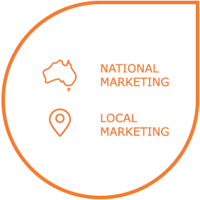 National Marketing and Local Marketing Icon