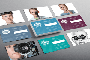 Business cards size: design example