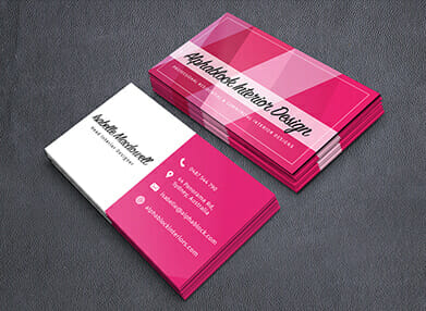 professionally printed business cards
