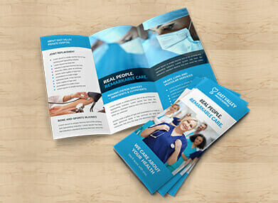 printed trifold brochures