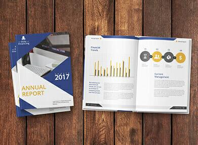 designed annual report